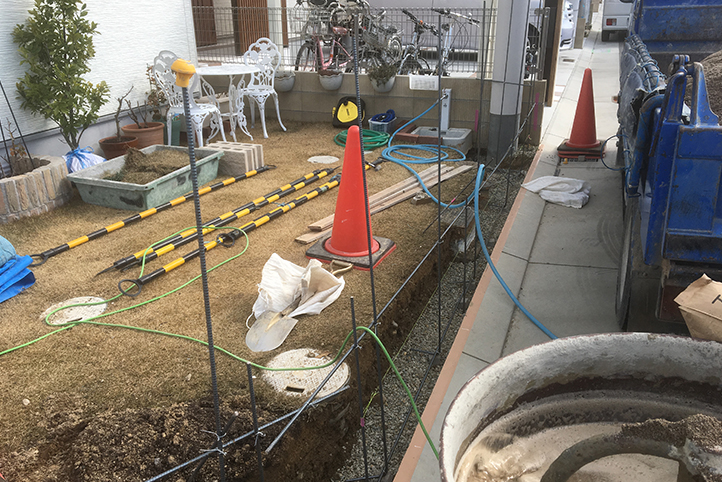 神戸市西区 S様邸の施工中の様子4
