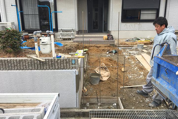 神戸市北区 S様邸の施工中の様子2