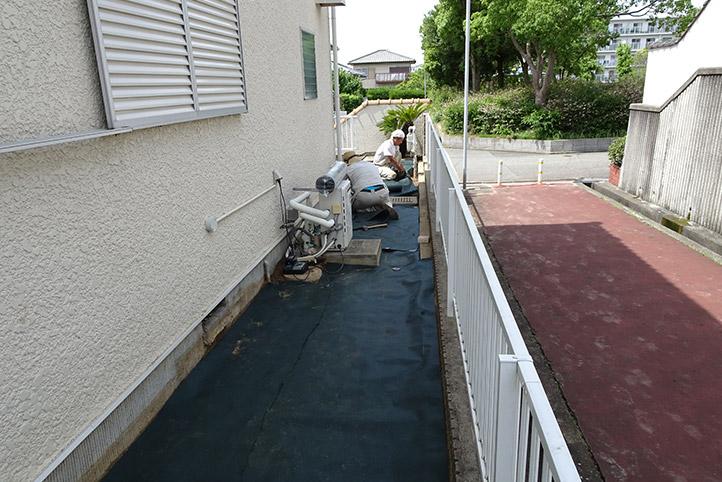 神戸市須磨区 K様邸の施工中の様子23