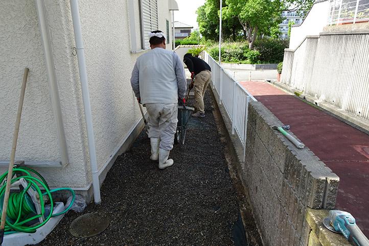 神戸市須磨区 K様邸の施工中の様子25