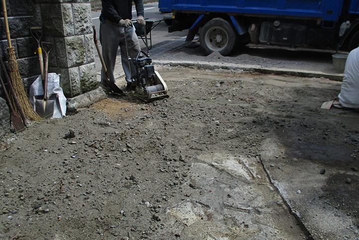 神戸市西区N様邸の施工中の様子1