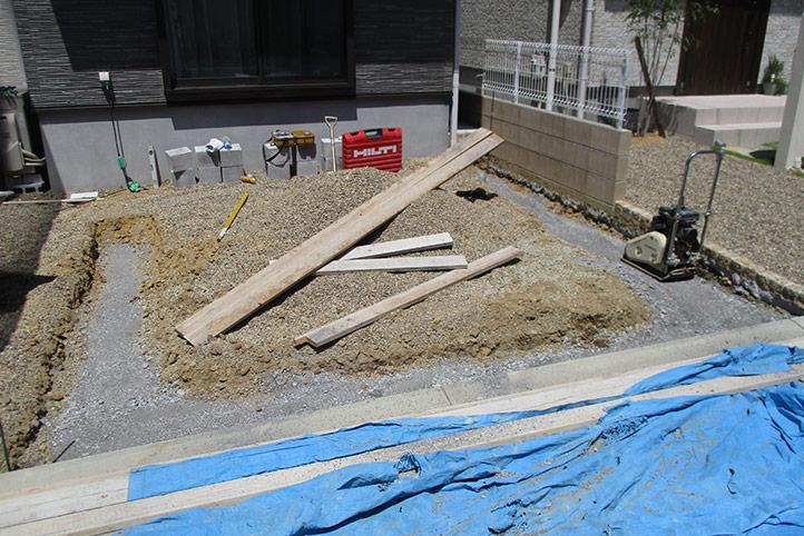 神戸市垂水区 M様邸の施工中の様子2