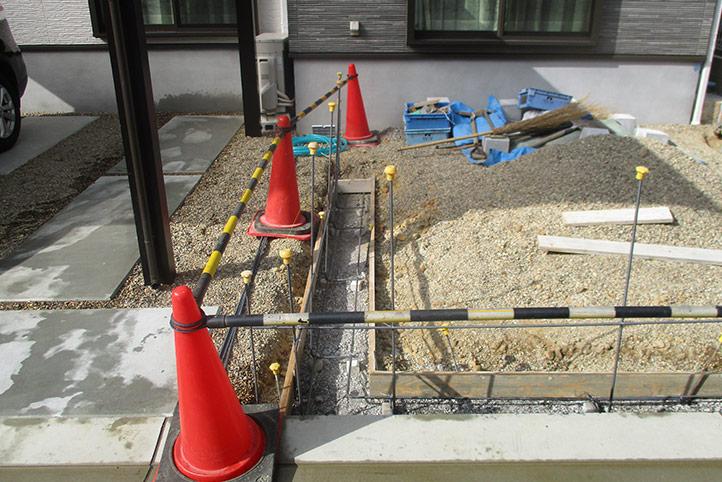 神戸市垂水区 M様邸の施工中の様子3