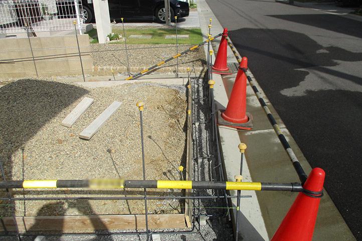 神戸市垂水区 M様邸の施工中の様子4