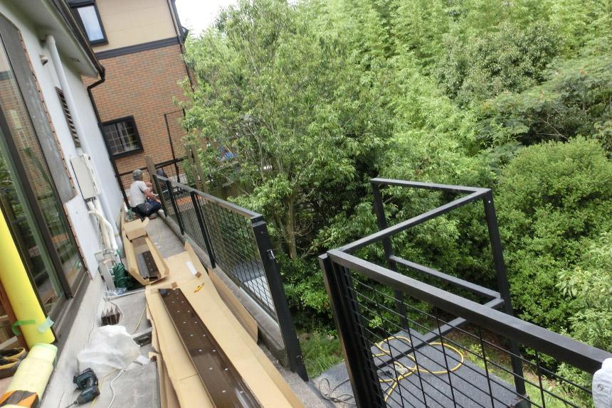 神戸市垂水区 T様邸の施工中の様子1