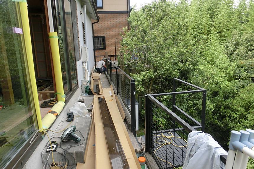 神戸市垂水区 T様邸の施工中の様子2