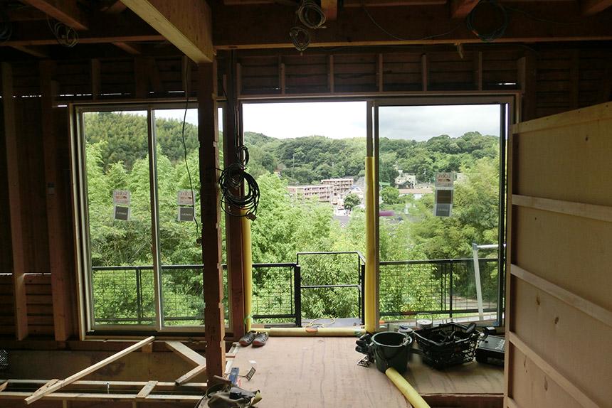 神戸市垂水区 T様邸の施工中の様子3