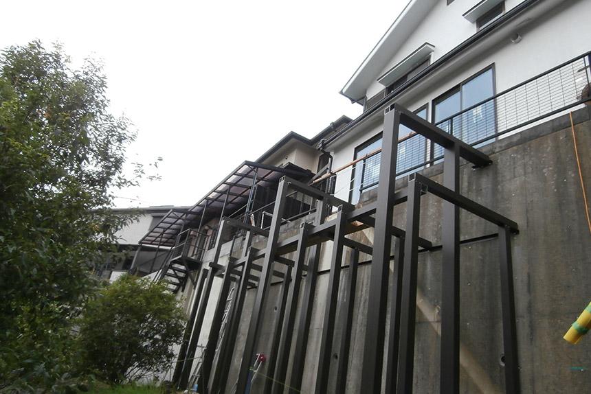 神戸市垂水区 T様邸の施工中の様子9