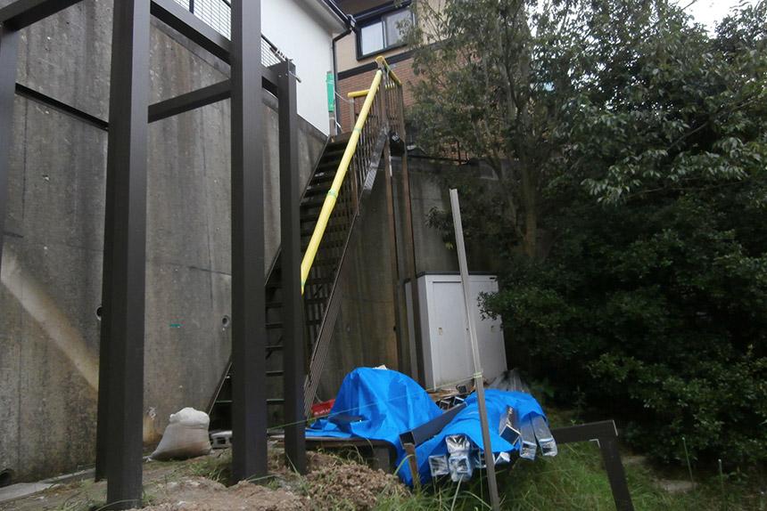 神戸市垂水区 T様邸の施工中の様子10