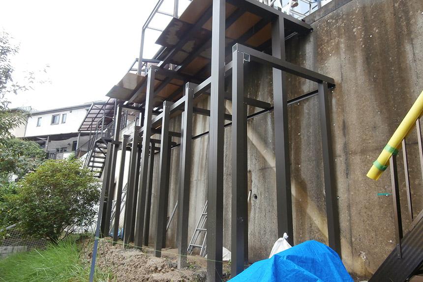 神戸市垂水区 T様邸の施工中の様子19
