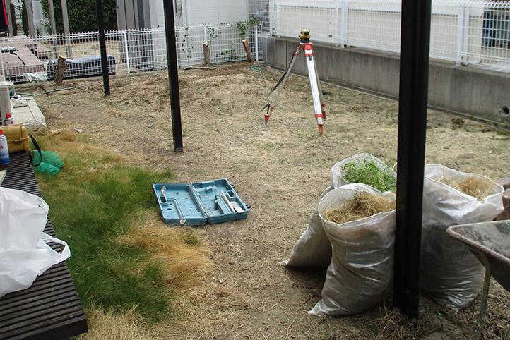神戸市西区F様邸の施工中の様子1