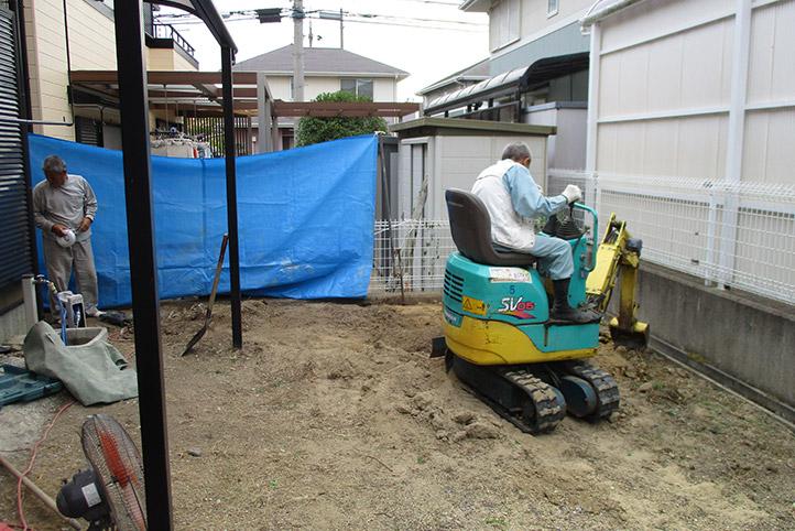 神戸市西区F様邸の施工中の様子3