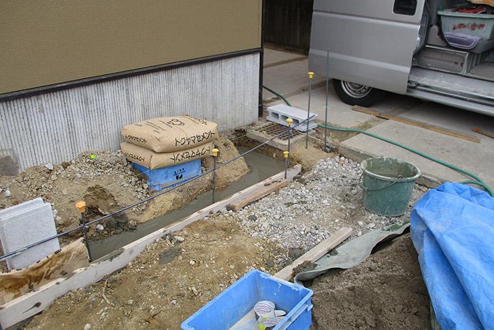 神戸市西区F様邸の施工中の様子11