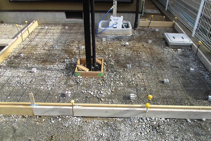 神戸市西区F様邸の施工中の様子12