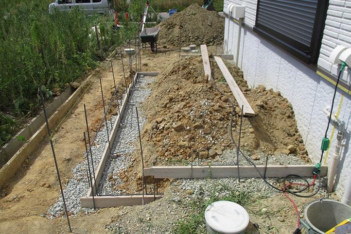 神戸市垂水区 K様邸の施工中の様子2