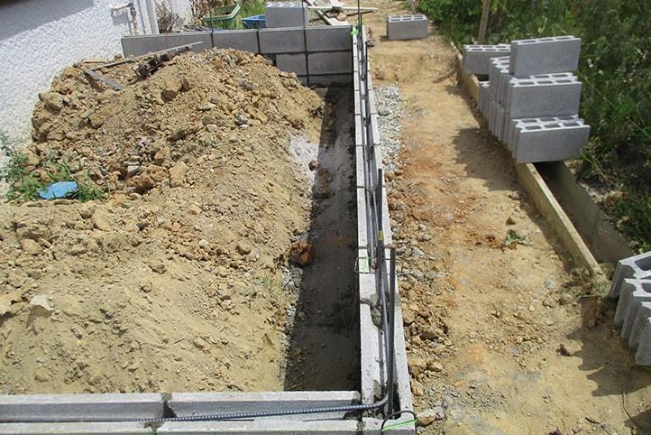 神戸市垂水区 K様邸の施工中の様子4