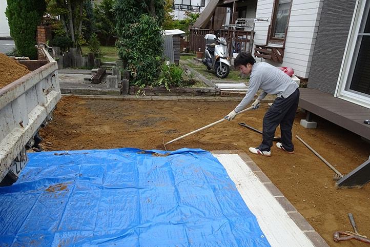 神戸市西区H様邸の施工中の様子4