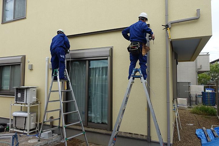 神戸市西区G様邸の施工中の様子2