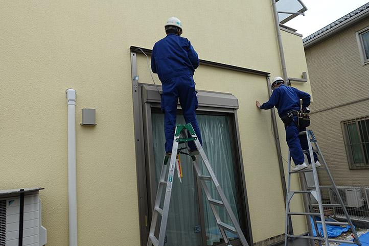 神戸市西区G様邸の施工中の様子4