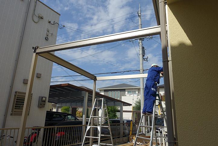 神戸市西区G様邸の施工中の様子5