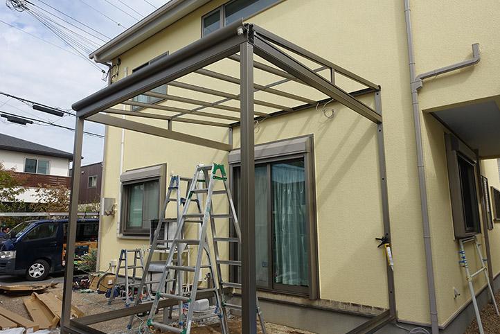 神戸市西区G様邸の施工中の様子8