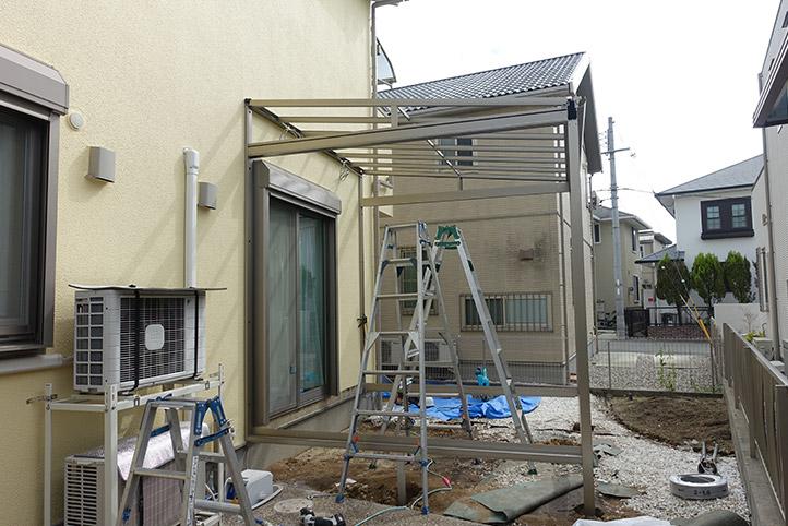 神戸市西区G様邸の施工中の様子9