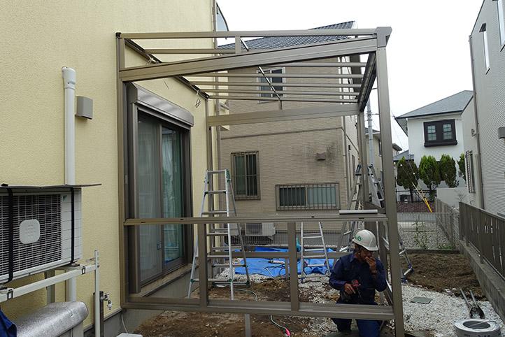 神戸市西区G様邸の施工中の様子10