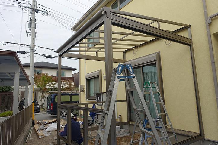 神戸市西区G様邸の施工中の様子11