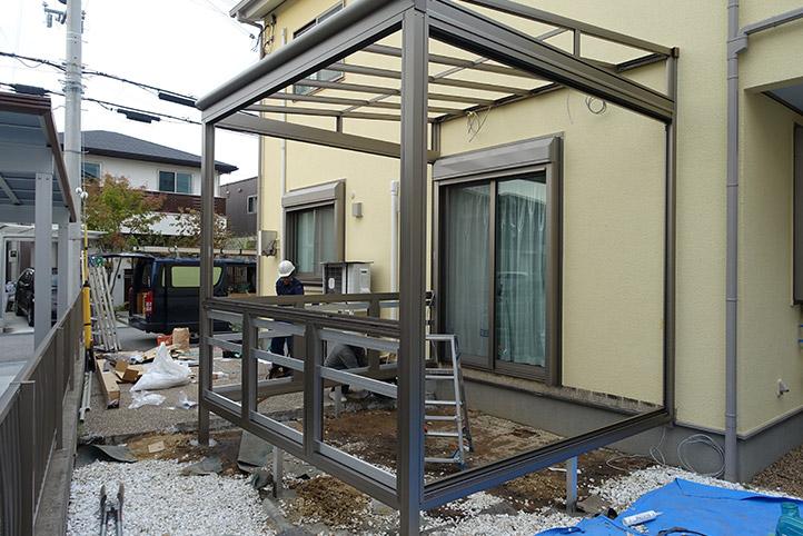 神戸市西区G様邸の施工中の様子13