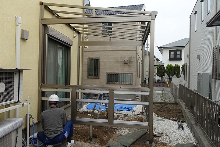 神戸市西区G様邸の施工中の様子15