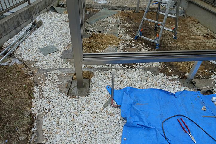 神戸市西区G様邸の施工中の様子16