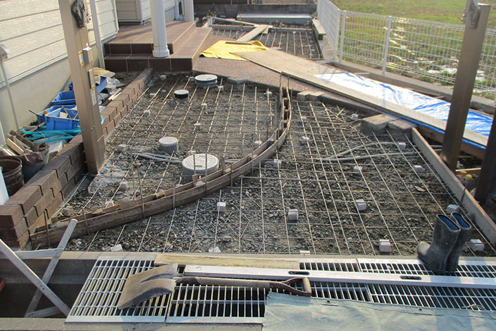 神戸市西区H様邸の施工中の様子47