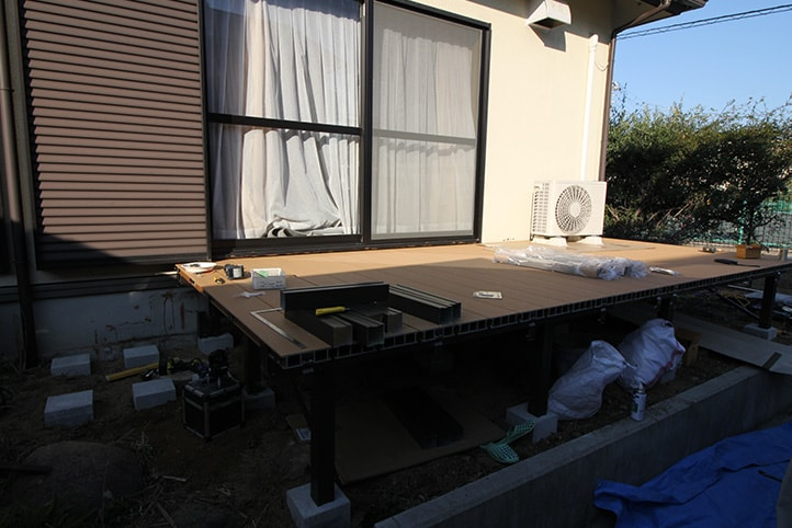 神戸市須磨区 K様邸の施工中の様子1