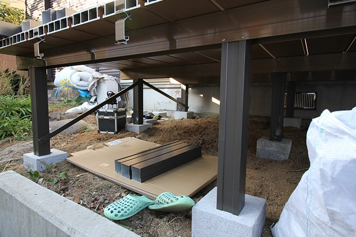 神戸市須磨区 K様邸の施工中の様子4