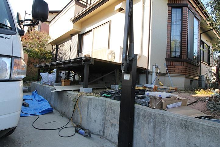 神戸市須磨区 K様邸の施工中の様子6