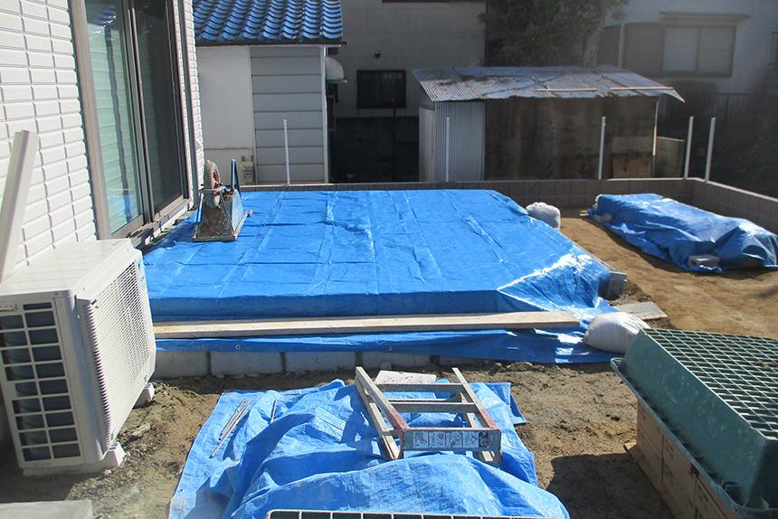 神戸市垂水区 S様邸の施工中の様子6