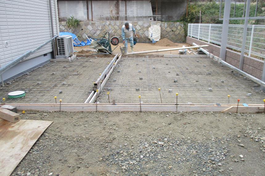 神戸市垂水区 S様邸の施工中の様子11