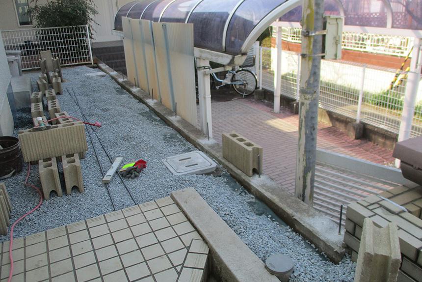 神戸市西区K様 施工中の様子1