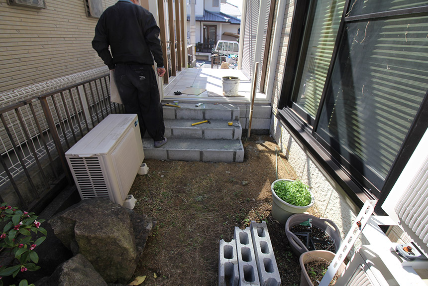 神戸市垂水区 S様邸の施工中の様子12