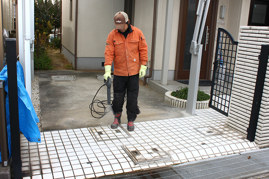 神戸市垂水区 I様邸の作業中写真4