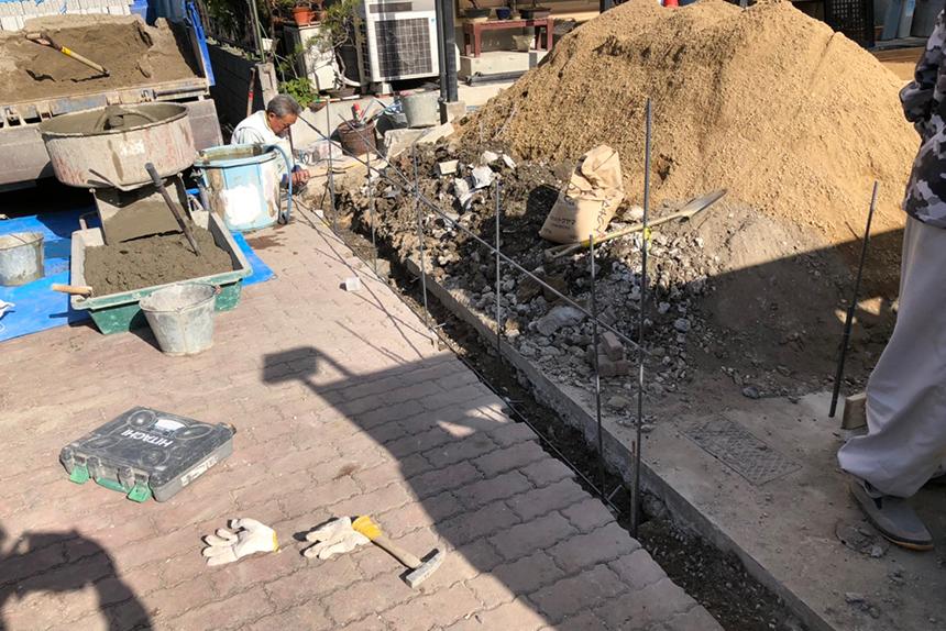 神戸市垂水区M様邸の施工中写真9