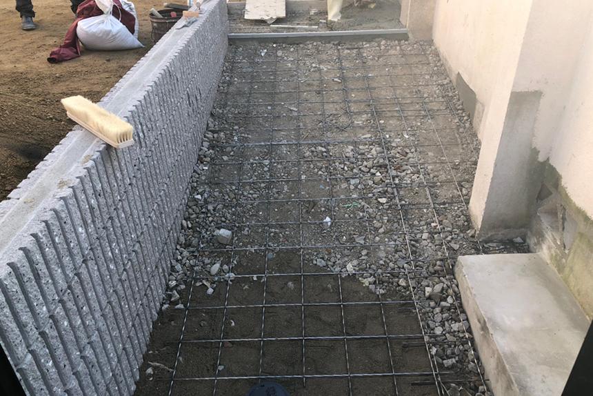 神戸市垂水区M様邸の施工中写真1
