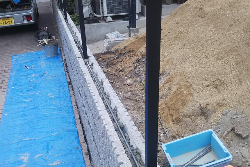 神戸市垂水区M様邸の施工中写真6