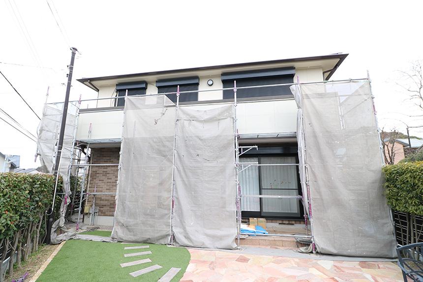 神戸市西区 U様邸の施工中写真1