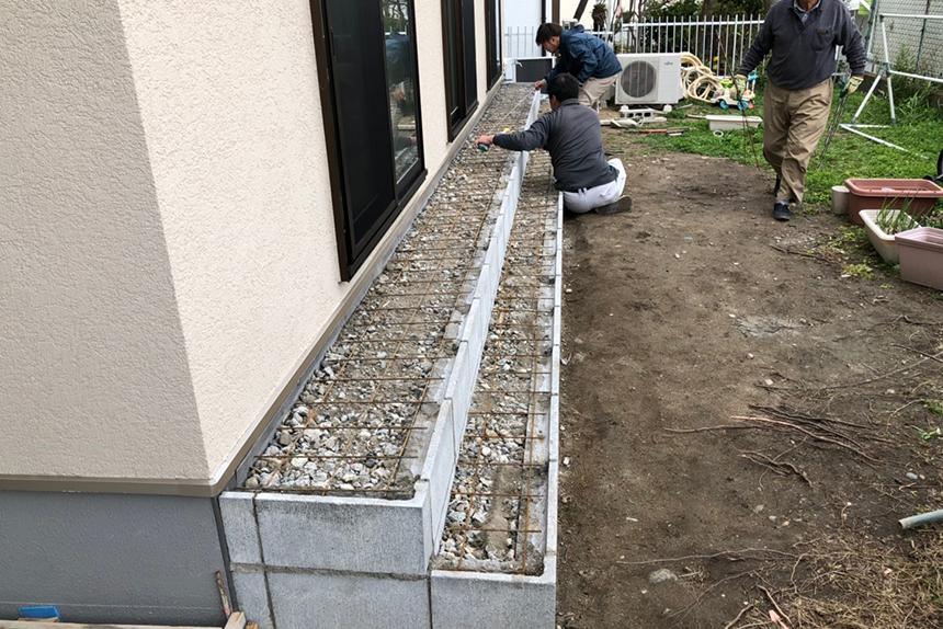 神戸市垂水区 H様邸の施工中写真1