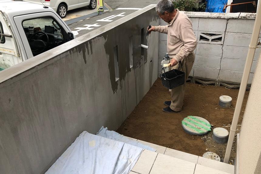 神戸市垂水区 H様邸の施工中写真3