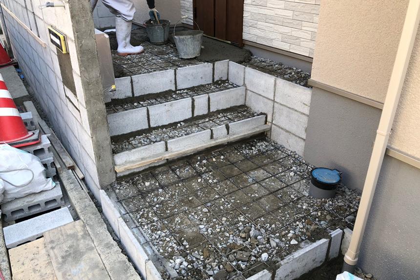 神戸市垂水区 H様邸の施工中写真4