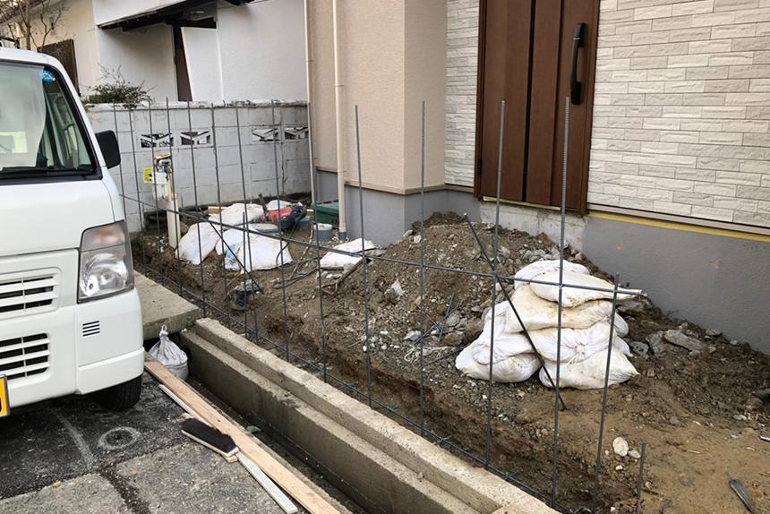 神戸市垂水区 H様邸の施工中写真5