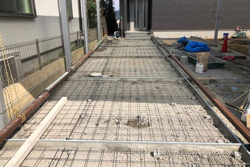 神戸市垂水区 K様邸の施工中写真2