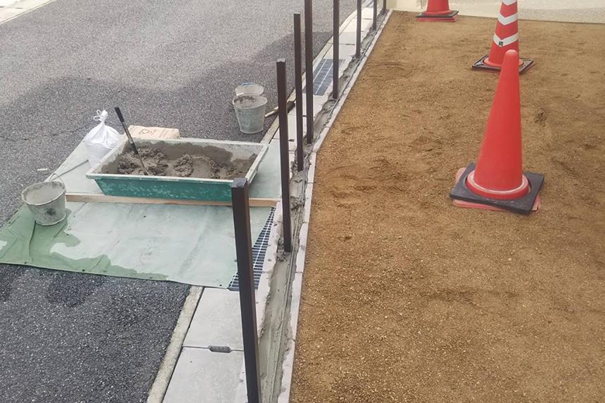 神戸市垂水区Y様邸の施工中写真1